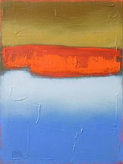 abstract landscape, original oil painting