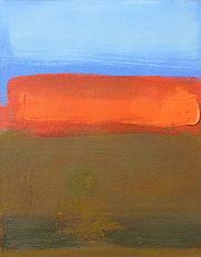 abstract Big Sur landscape, original oil painting