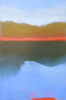 original oil painting, abstract Big Sur landscape