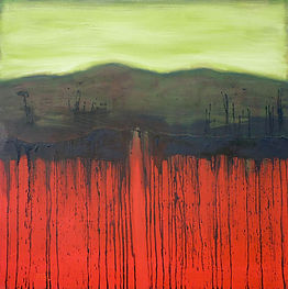 oil painting, abstract landscape