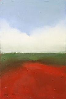 abstract Big Sur landscape, original painting