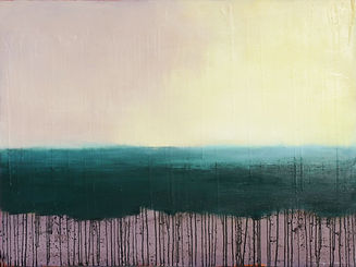 unique oil painting, abstract landscape