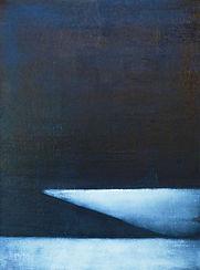 abstract landscape, unique oil painting