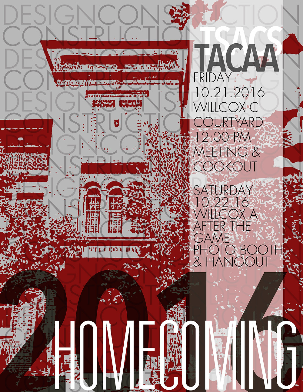TACAA Homecoming Meeting & Cookout, Friday, October 21, 2016 @ 11am