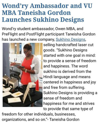 TSACS Alumnae Taneisha Gordon featured in Vanderbilt University Newsletter!