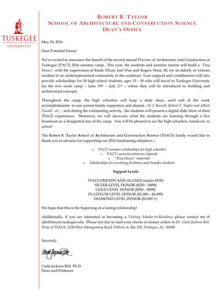 TSACS Sponsorship Letter