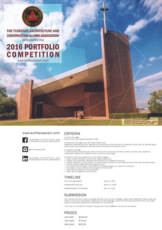 Students, Don't Forget to Submit for the 2016 Student Portfolio Competition