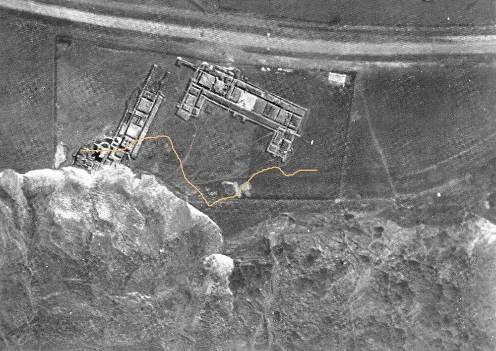 1924 aerial photo of the Villa at East Wear Bay