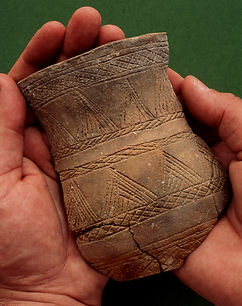 A beaker found at Monkton, Thanet