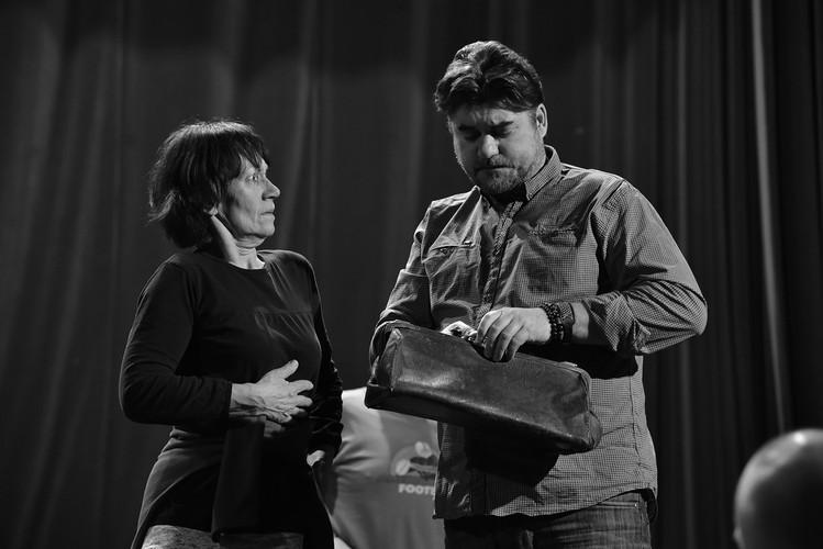 Eva Reiterová (Kateřina) a Martin Hrubý (dr. Vlach) - 2. týden zkoušení
