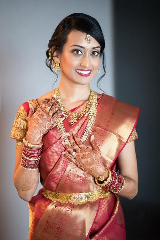South Indian Bridal Makeup and Hair