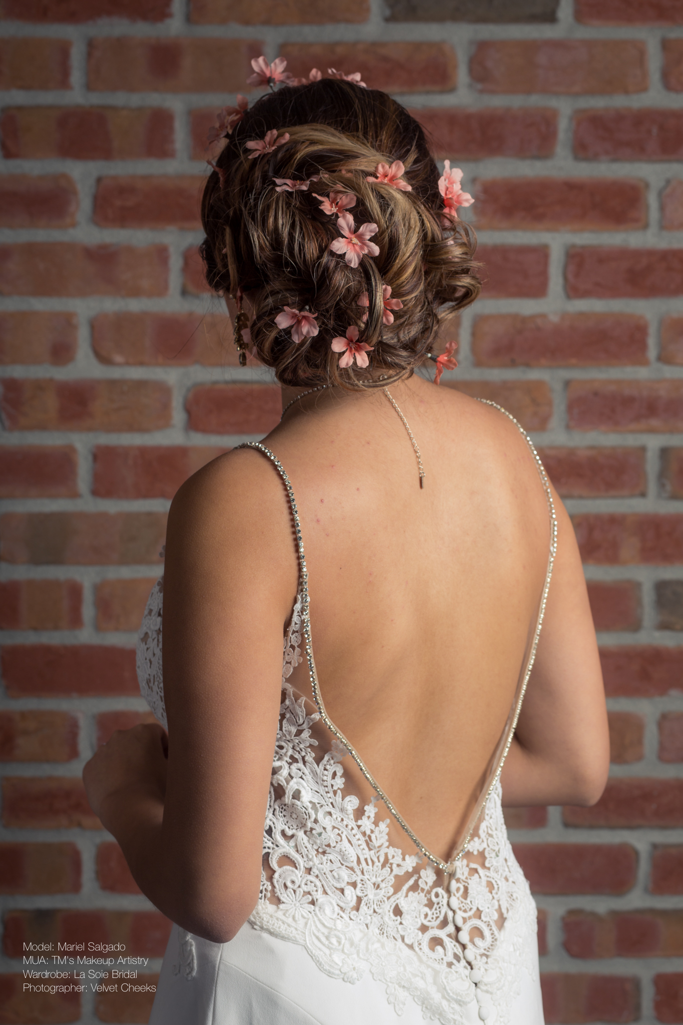 Spring Inspired Bridal Updo