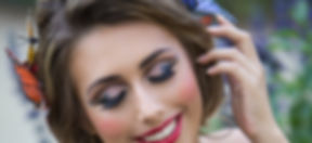 Cut crease damatic eyes for the bold you. Red lips and messy organic braid perfect for those whimsical fantasy look that your heart desires!