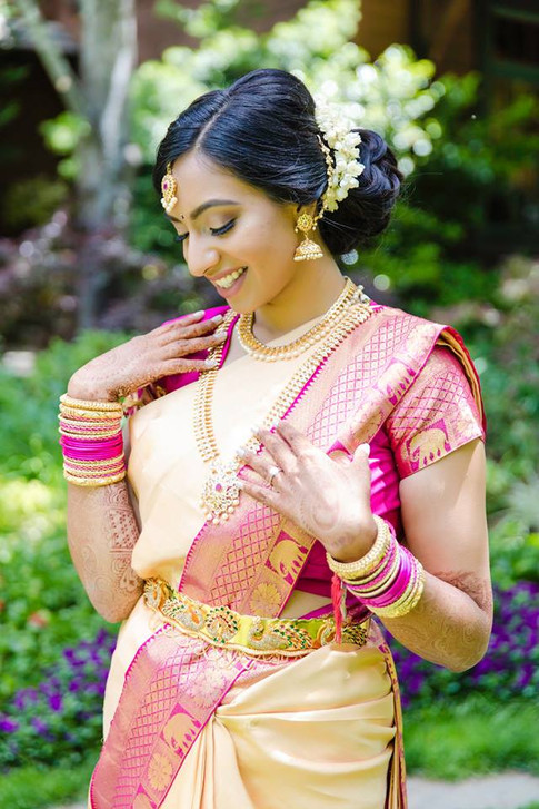 South Indian Bridal Hair and Makeup