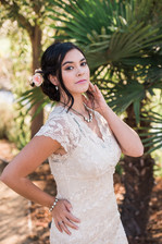 Organic Updo with Fresh Flowers and Boho Chic Makeup