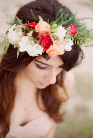 Hair and Makeup for the Boho Bride