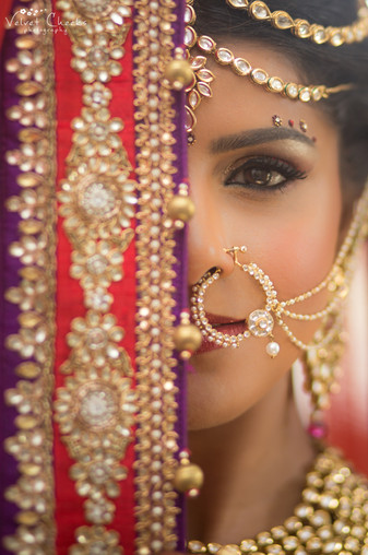 Indian Wedding Bridal Hair and Makeup