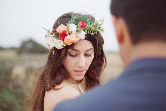 Bohemian Wedding Makeup & Hair