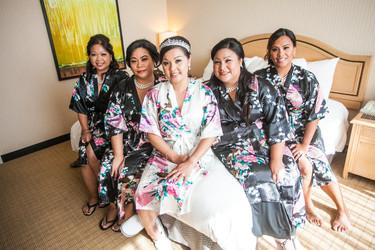 Hair & Makeup for the Beautiful Bridesmaids