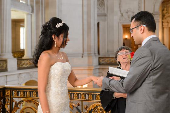 SF City Hall Bride