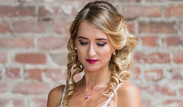 Smokey eyes with berry lips and a chic half up style perfect for that modern bride in you!