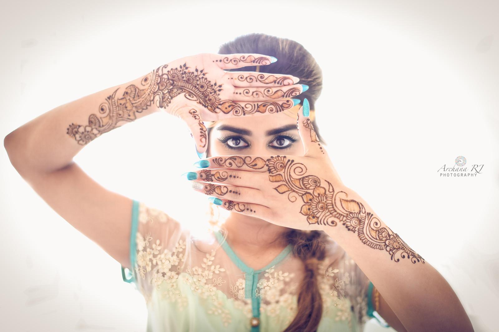 Mehndi Night Makeup : Indian bridal makeup and hair artist