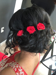 Romantic Updo for the Reception