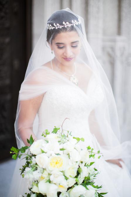 Classic Bridal Updo and Makeup