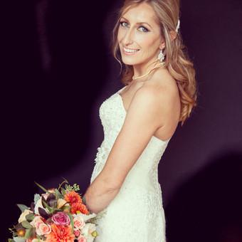 Modern Bridal Makeup & Halfup Hair