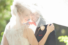 Vintage Wedding with Classic Veil