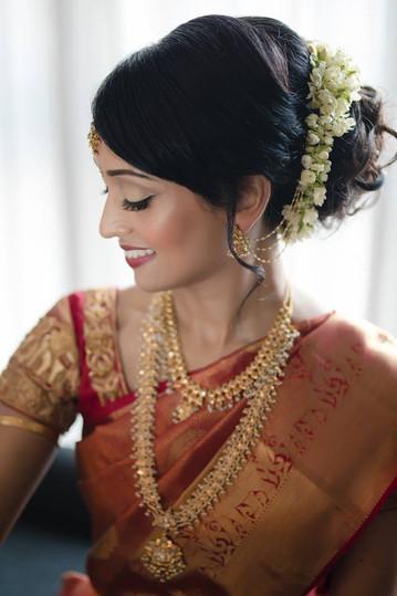 South Indian Bridal Hair and Makeup