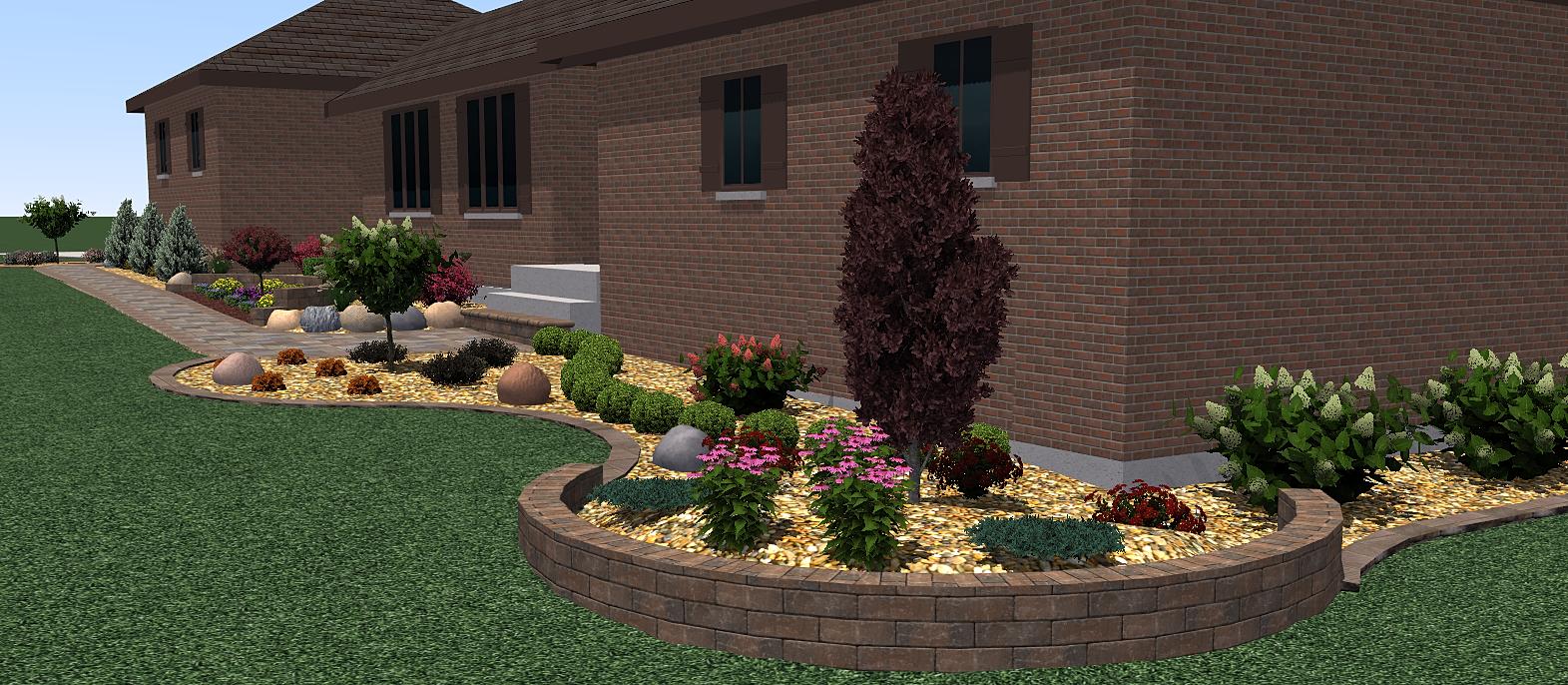 Landscape Wall Design retaining walls colour behind retaining wall Virtual Accent Retaining Wall Design