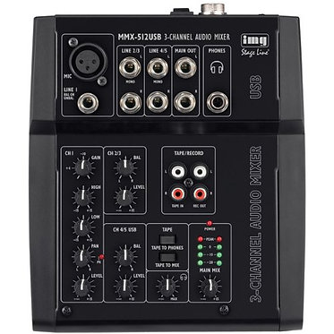 IMG Stage Line MMX-512USB 3 Channel Audio Mixer