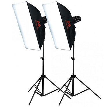 FALCON EYES Kit Flash de Estúdio 400W/400W