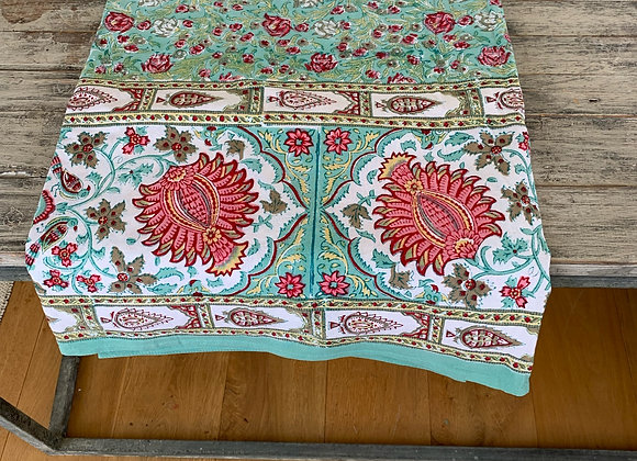 TURQUOISE PINK DANCE TABLECLOTH