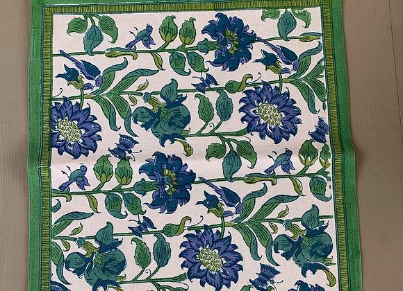 GREEN & BLUE GARDEN TABLE RUNNER