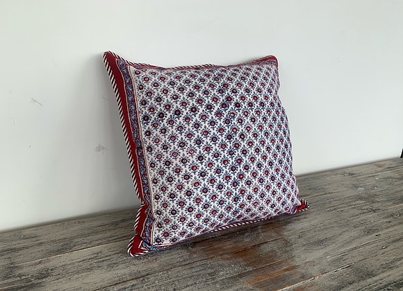 RED AND BLUE PAISLEY CUSHION COVERS