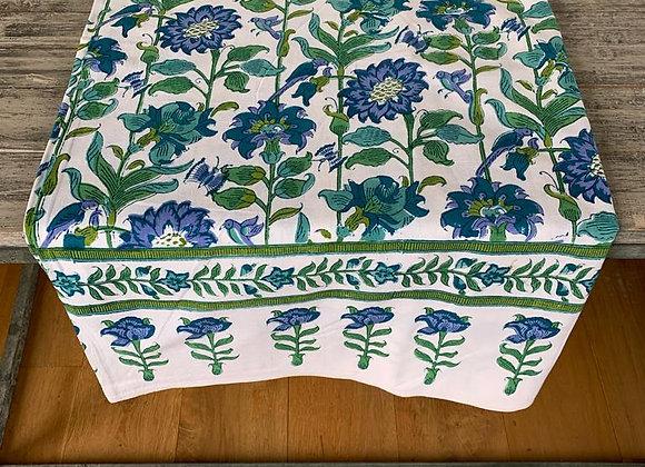 GREEN AND BLUE GARDEN TABLE