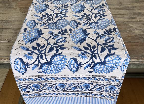 BLUE DAHLIA TABLECLOTH