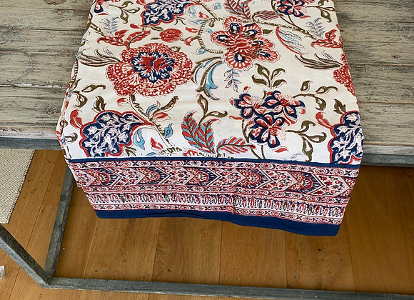 NAVY AND BLUE CORAL TABLECLOTH