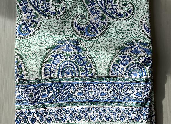 GREEN/BLUE PAISLEY