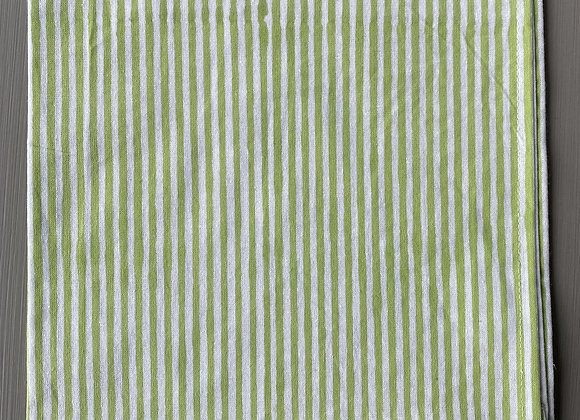 GREEN AND WHITE STRIPE NAPKIN