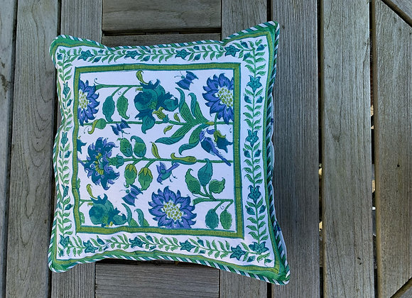 BLUE AND WHITE GARDEN CUSHION COVERS