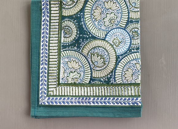 GREEN BLUE CIRCUS NAPKIN