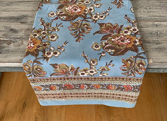 BLUE FLORIST TABLECLOTH