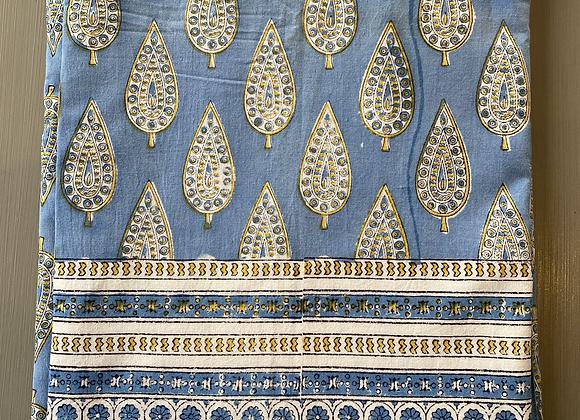 BUTI BLUE/WHITE TABLECLOTH
