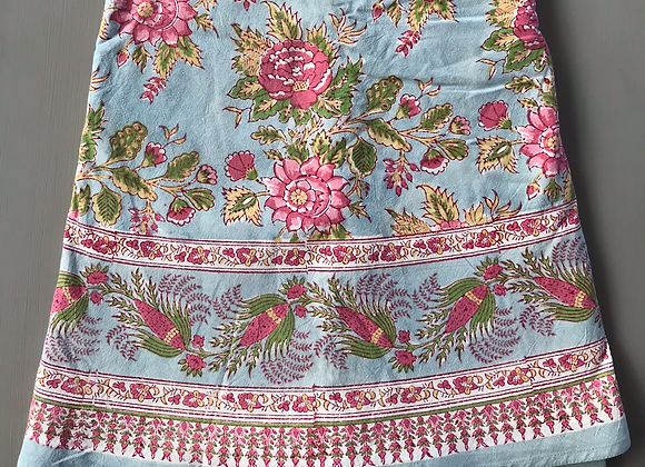 SKY BLUE AND PINK TABLECLOTH