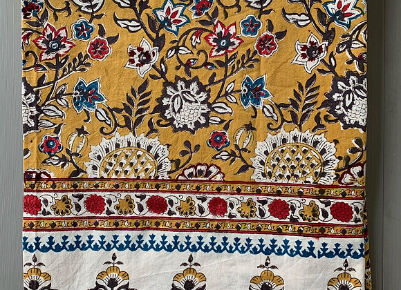 YELLOW POMEGRANATE TABLECLOTH