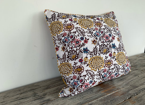 YELLOW POMEGRANATE CUSHION COVERS