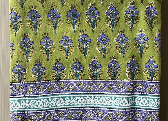 GREEN BLUE SPRIG TABLECLOTH